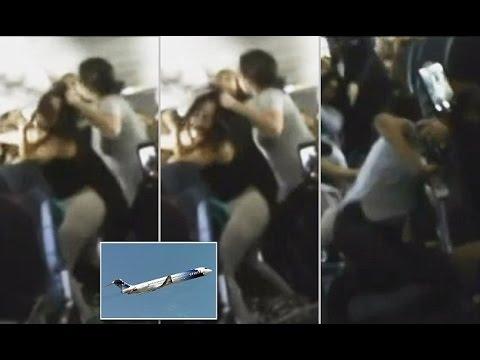 Μαλλιοτραβήχτηκαν στον αέρα… εν πτήσει με αφορμή τη μουσική (Video)