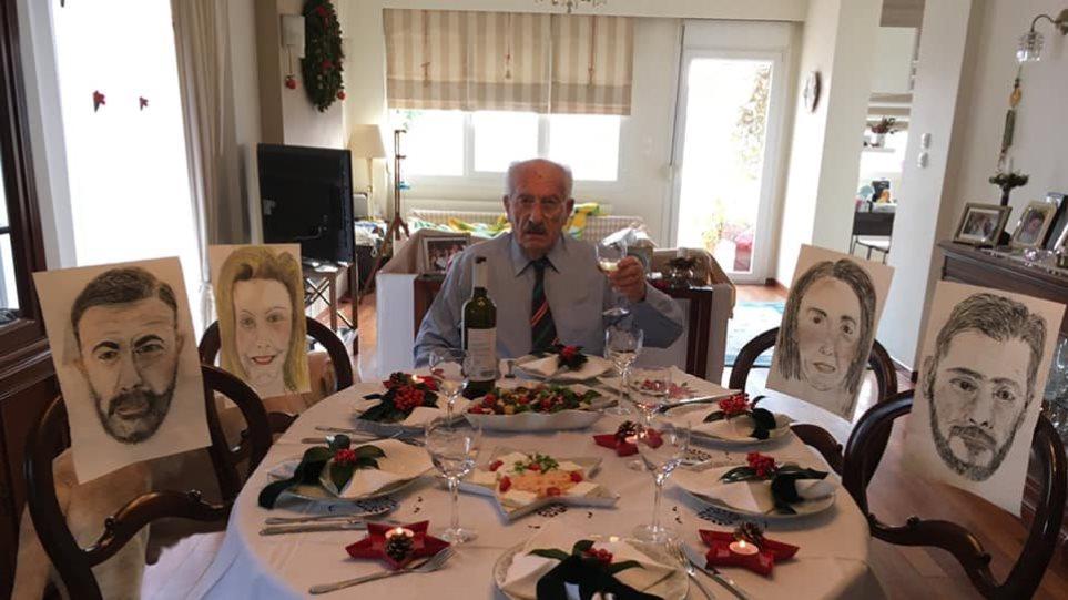 Ερασιτέχνης ζωγράφος....Zωγράφισε τα παιδιά του και κατάφερε να... φάει μαζί τους παρά τους περιορισμούς της πανδημίας